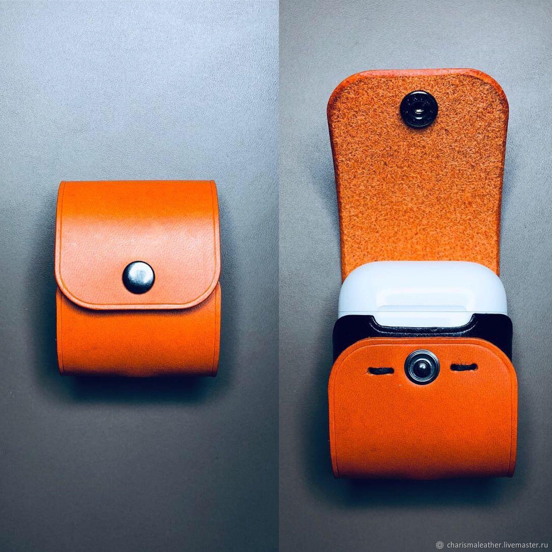 Чехол для наушников AirPods ручной работы из топовой итальянской кожи