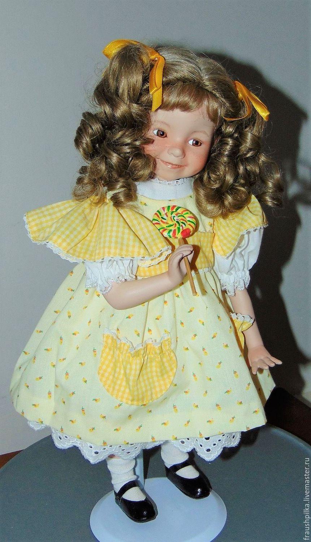 Коллекционная фарфоровая кукла Солнечный лучик и карамелька Д Эффнер, Куклы и пупсы, Кемптен, Фото №1