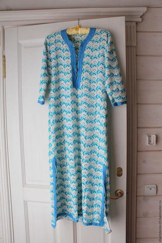 Одежда. Ярмарка Мастеров - ручная работа. Купить Платье винтажное марокканское. Handmade. Бирюзовый, винтажный стиль