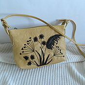Сумки и аксессуары handmade. Livemaster - original item leather bag. handbag over the shoulder. Grass yellow mustard. Handmade.
