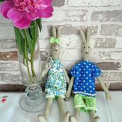 Куклы и игрушки ручной работы. Ярмарка Мастеров - ручная работа Комплект зайчиков Девочка Зая и Мальчик Зай. Handmade.