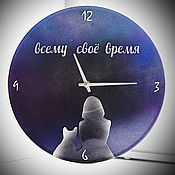 Для дома и интерьера handmade. Livemaster - original item Wall clock. All in good time (serenity). Handmade.