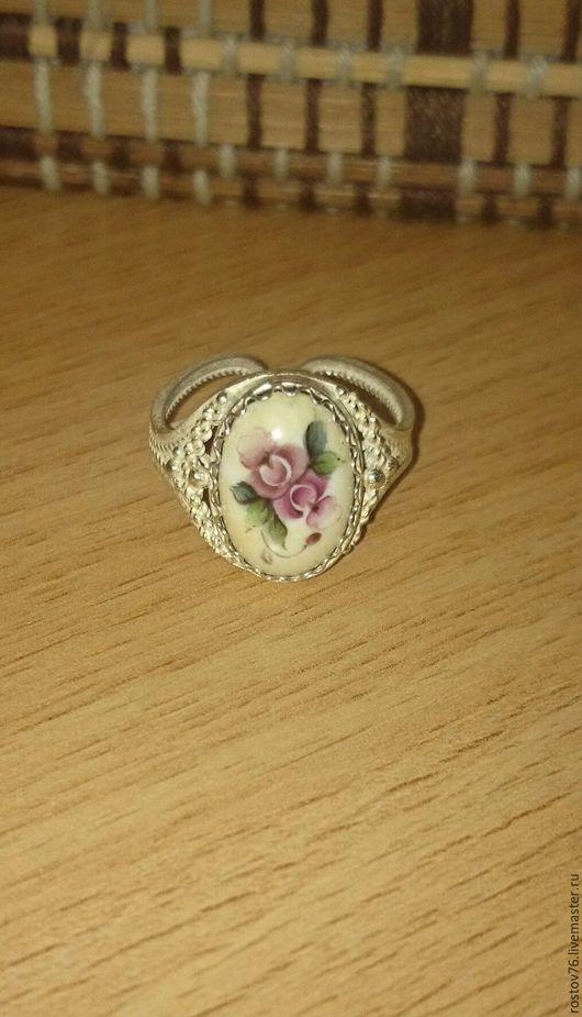 Кольца ручной работы. Ярмарка Мастеров - ручная работа. Купить Кольцо с финифтью 1. Handmade. Комбинированный, кольцо с розочками