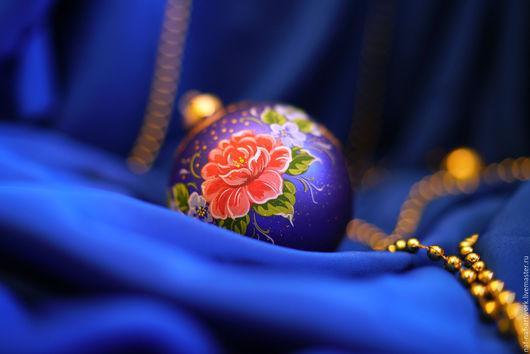 """Новый год 2017 ручной работы. Ярмарка Мастеров - ручная работа. Купить Новогодний шар """"Жостово"""". Handmade. Комбинированный, учная работа"""