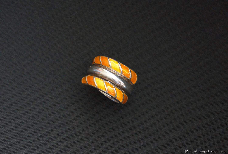 Винтажное серебряное кольцо с эмалью Norway, Кольца, Москва,  Фото №1