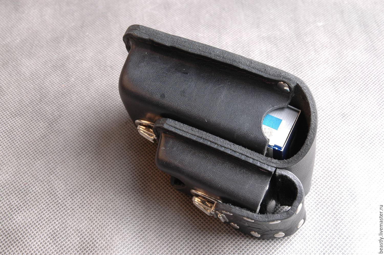 Выдавленная сигаретница c zip_ницей на ремень