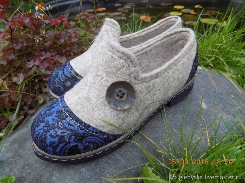 Обувь ручной работы. Ярмарка Мастеров - ручная работа. Купить Туфельки для Вас. Handmade. Ручная работа, шерсть бергшаф
