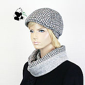 Аксессуары handmade. Livemaster - original item kit. Youth women`s cap plus LIC. The seven colors. No. №5. Handmade.
