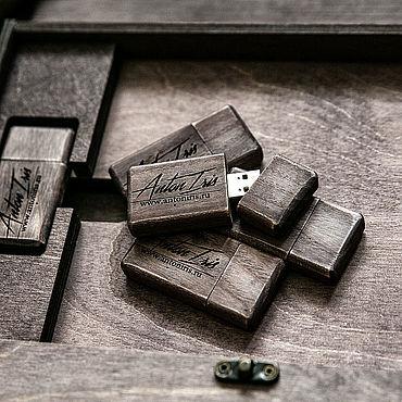 Сувениры и подарки ручной работы. Ярмарка Мастеров - ручная работа Флешка деревянная из дуба 16 гигов. Handmade.