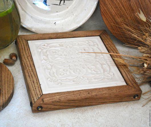 Кухня ручной работы. Ярмарка Мастеров - ручная работа. Купить TYUDOR подставка из дуба. Handmade. Белый, кухонный декор, воск