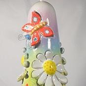 Колокольчики ручной работы. Ярмарка Мастеров - ручная работа Керамика Колокольчик прорезной с бабочкой. Handmade.