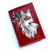 Сумки и аксессуары handmade. Livemaster - original item Passport cover made of red Fox leather. Handmade.