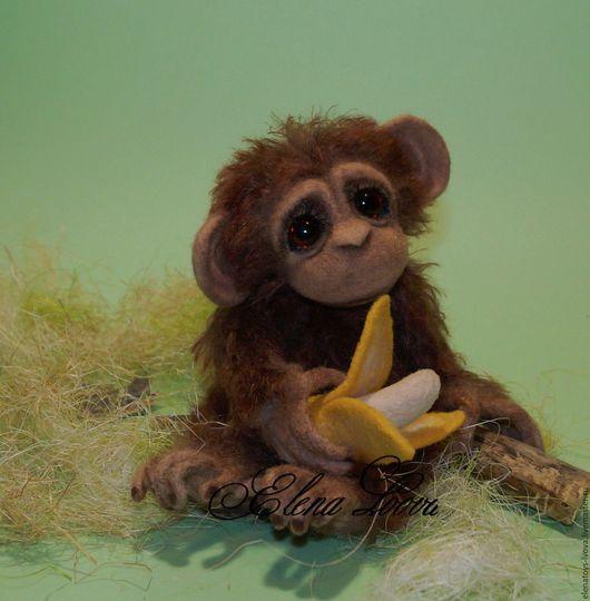 Мишки Тедди ручной работы. Ярмарка Мастеров - ручная работа. Купить Шимпанзе Жорик. Handmade. Рыжий, обезьянка тедди
