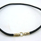 Украшения handmade. Livemaster - original item Chalker (cord) on the neck of the braided prescore 6 mm with the heads of wolves bronze. Handmade.