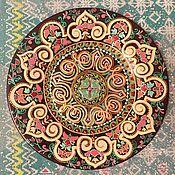 """Посуда ручной работы. Ярмарка Мастеров - ручная работа Декоративная тарелка """" Тюльпановое настроение2"""". Handmade."""