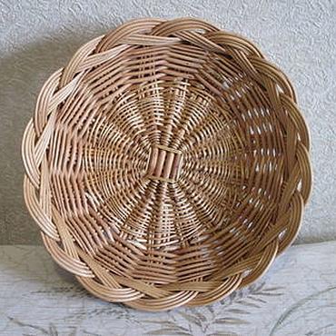 Для дома и интерьера ручной работы. Ярмарка Мастеров - ручная работа Тарелка глубокая плетёная из ивовой лозы. Handmade.