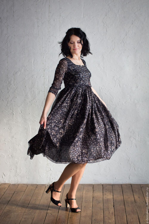 """Платья ручной работы. Ярмарка Мастеров - ручная работа. Купить Платье """"Цветы ночи"""". Handmade. Платье, цветочный, платье летнее"""