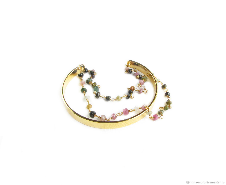 Tourmaline bracelet, Natural Stones chain bracelet, Bead bracelet, Moscow,  Фото №1