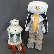 Мягкие игрушки ручной работы. Ярмарка Мастеров - ручная работа Зайчик интерьерный. Handmade.