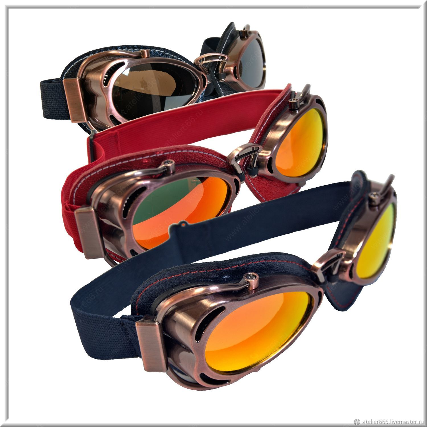 Steampunk Glasses Red, Blue, Black , Glasses, Moscow,  Фото №1