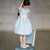 Работы для детей, ручной работы. Ярмарка Мастеров - ручная работа Нарядное детское платье из жаккарда. Handmade.