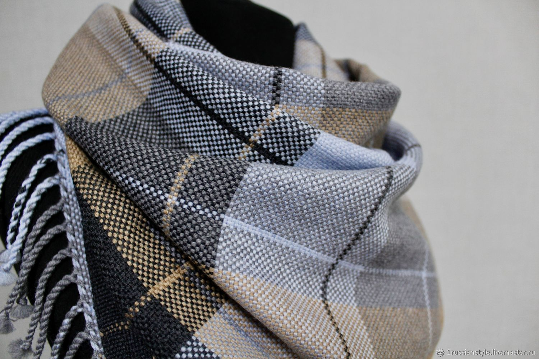 Men's / Women's Handmade Woven Scarf. Merino, Scarves, Aprelevka,  Фото №1