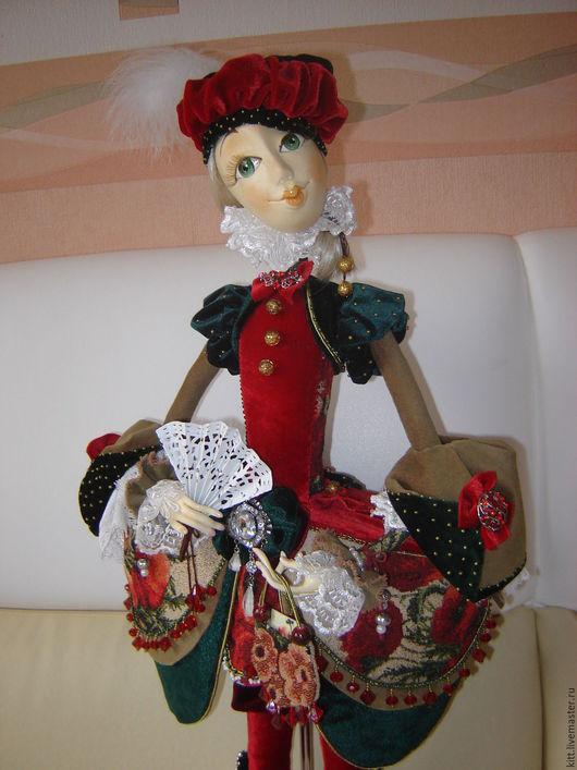 Коллекционные куклы ручной работы. Ярмарка Мастеров - ручная работа. Купить Маков цвет. Handmade. Комбинированный, подарок, пластик, бархат