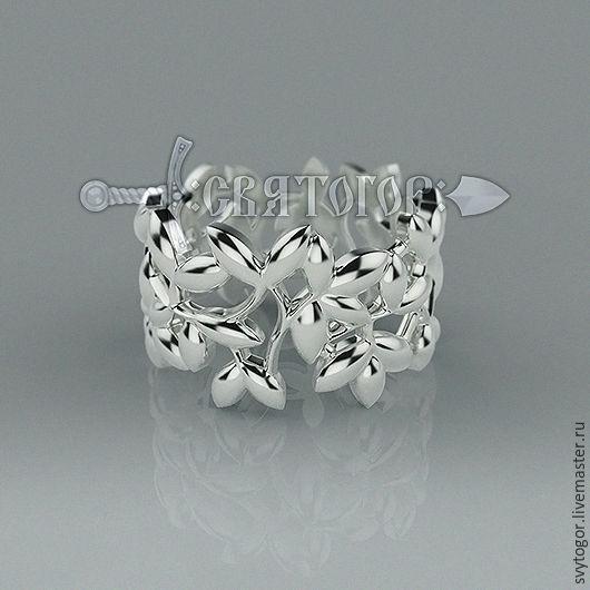 Кольцо `Листья`