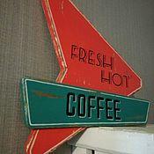 Картины и панно ручной работы. Ярмарка Мастеров - ручная работа Табличка Кофе. Handmade.