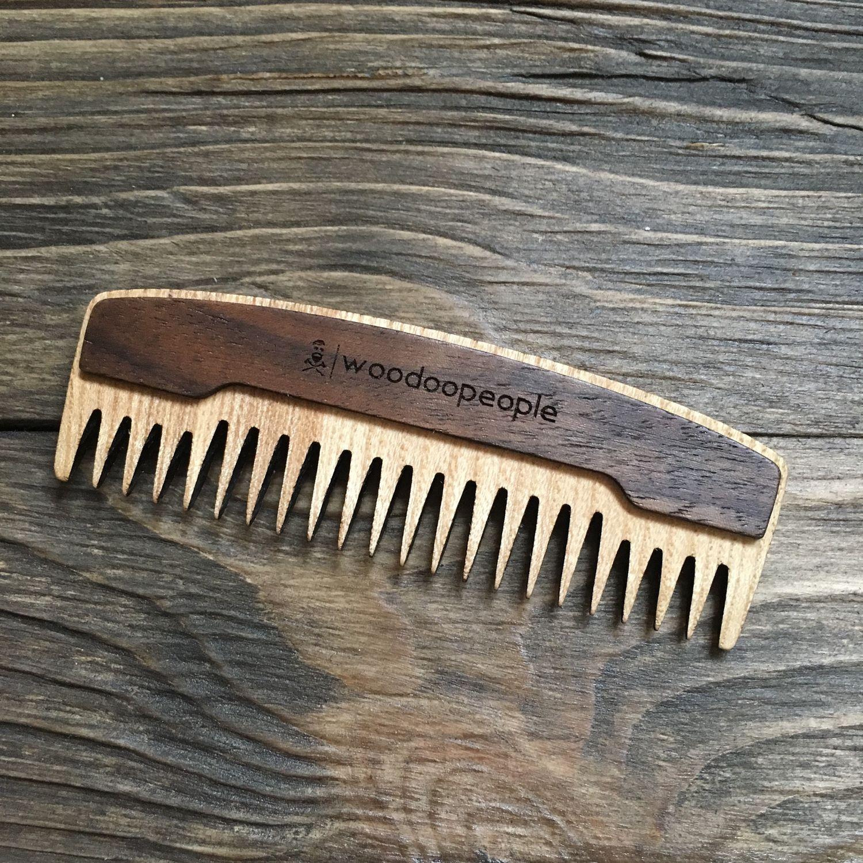 Гребень для бороды и усов с двумя типами зубцов: редкий и частый, Гребни, Таганрог,  Фото №1