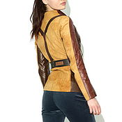 Одежда handmade. Livemaster - original item Women`s Brown leather jacket. Handmade.