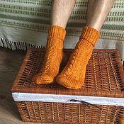 Аксессуары ручной работы. Ярмарка Мастеров - ручная работа Мужские носки  Fire fox. Handmade.