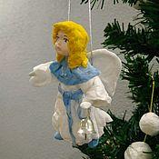 Куклы и игрушки ручной работы. Ярмарка Мастеров - ручная работа Ангел. Ватная ёлочная игрушка.. Handmade.