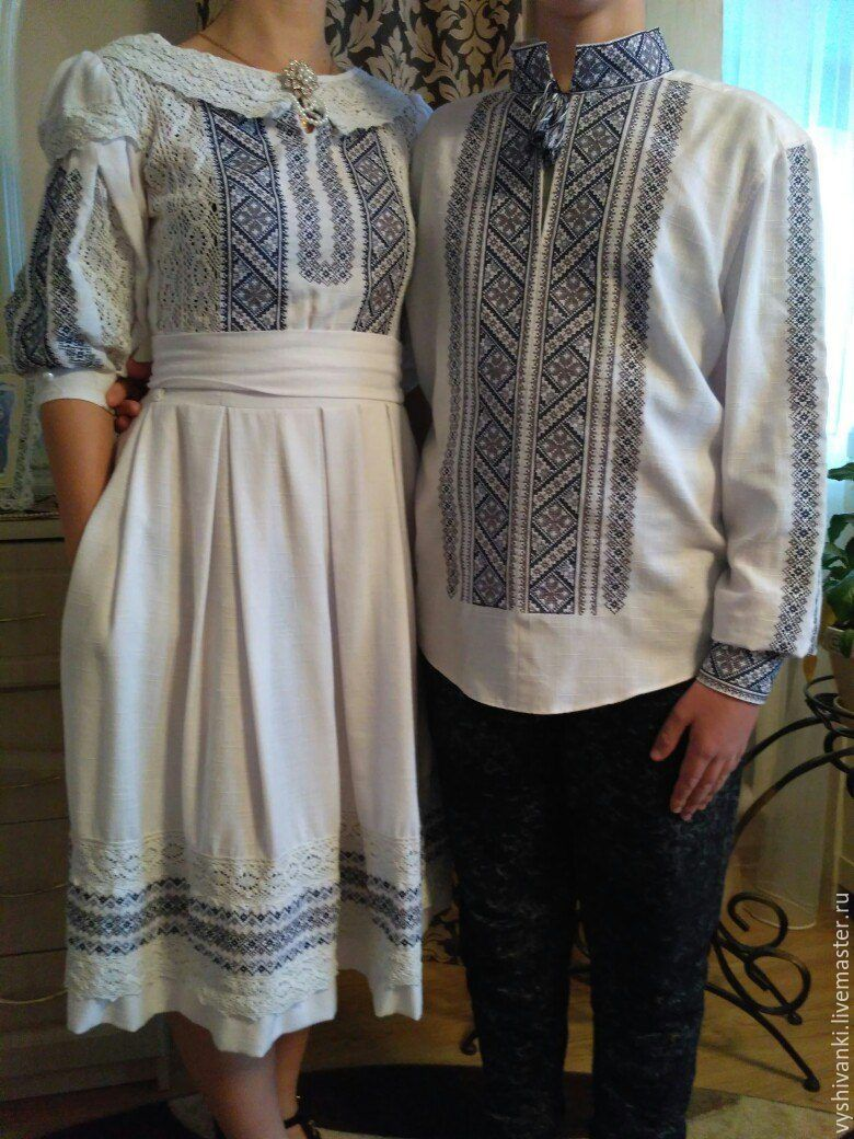 a122a5ba19e1 Этническая одежда ручной работы. Ярмарка Мастеров - ручная работа. Купить  Парные вышиванки вышивка для ...