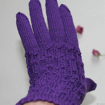 Accessories handmade. Livemaster - original item Knitted wool gloves, handmade. Handmade.