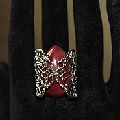 Украшения handmade. Livemaster - original item Ring with Jasper, Mukai. Handmade.
