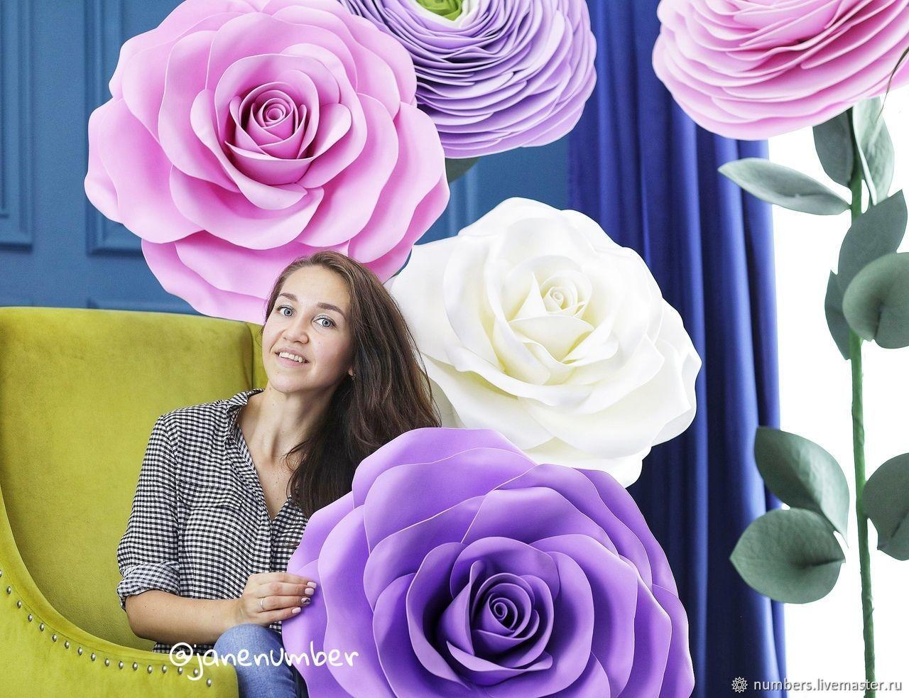 Ростовые розы (изолон), Свадебные цветы, Москва, Фото №1