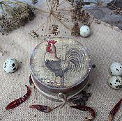 """Для дома и интерьера ручной работы. Ярмарка Мастеров - ручная работа """"Прованский петушок"""" короб для перца. Handmade."""