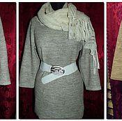 Одежда handmade. Livemaster - original item 100% linen Women`s tunic SCALES WITH SCARF included. Handmade.