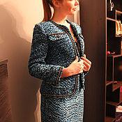 """Одежда ручной работы. Ярмарка Мастеров - ручная работа Костюм твидовый """" Chanel Aquamarine"""". Handmade."""