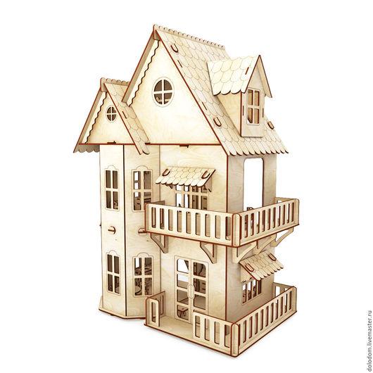 Куклы и игрушки ручной работы. Ярмарка Мастеров - ручная работа. Купить КД-20-0030 кукольный домик для кукол. Handmade.
