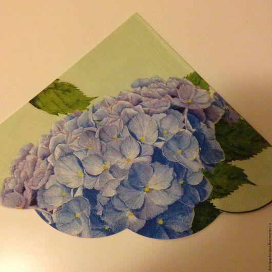 Салфетка для декупажа - гортензия голубая и розовая Декупажная радость