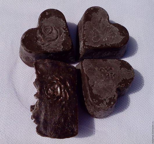 Мыло ручной работы. Ярмарка Мастеров - ручная работа. Купить «Горький шоколад» натуральное мыло.. Handmade. Коричневый, масло какао
