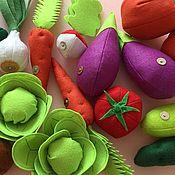 Грядка с овощами на магнитах