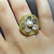 Украшения handmade. Livemaster - original item Nature Inspired Ring, Daisy Ring, Flower Ring Silver, Boho Flower Ring. Handmade.
