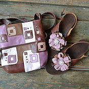 """Классическая сумка ручной работы. Ярмарка Мастеров - ручная работа Сумка +обувь """"шоколадный торт """". Handmade."""