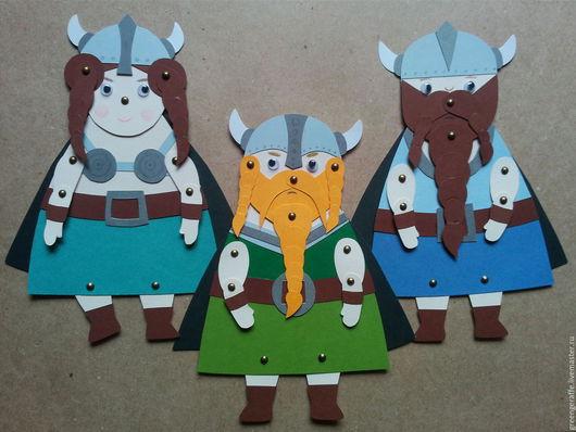 Набор для творчества `Викинги и Драконы`. Бумажные куклы, игрушки