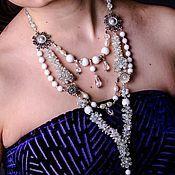 Свадебный салон handmade. Livemaster - original item Chic necklace with natural stone decoration