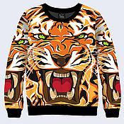 """Одежда ручной работы. Ярмарка Мастеров - ручная работа Свитшот """"Тигр"""". Handmade."""