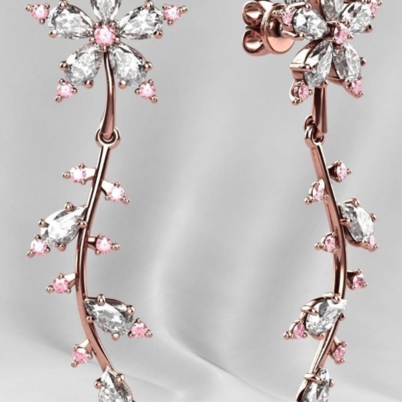 серьги веточки с бриллиантами фото внешность